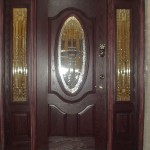 Fiberglass Door with 2 sidelights
